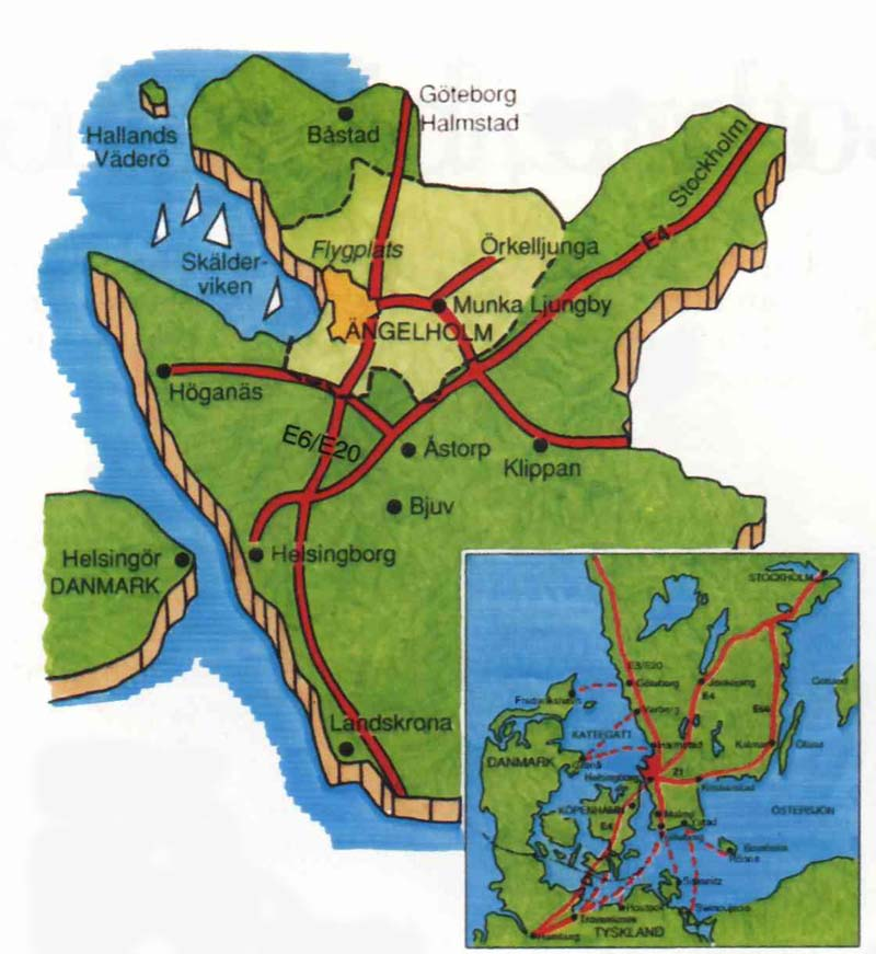 Karta Over Angelholm